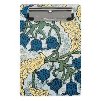 Blue Repeating Floral Pattern Mini Clipboard
