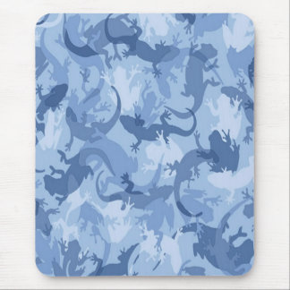Blue Reptile Camouflage Mouse Pad