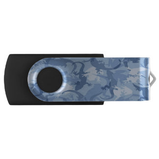 Blue Reptile Camouflage USB Flash Drive