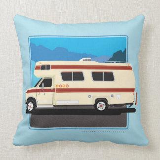 Blue Retro Camper Pillow