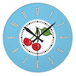 Blue Retro Cherry Clocks