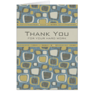 Blue Retro Employee Anniversary Card