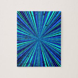 Blue Retro Grunge Background Puzzle