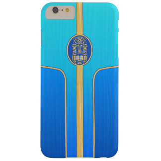 Blue Retro Tiki Surfboard Barely There iPhone 6 Plus Case