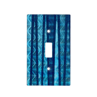 Blue Retro Wave Unique Cool Pattern Light Switch Cover