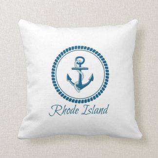 """Blue Rhode Island Polyester Throw Pillow 16""""x16"""""""