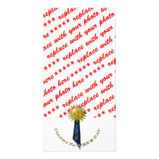 Blue Ribbon 1 Father s Day To Son Custom Photo Card