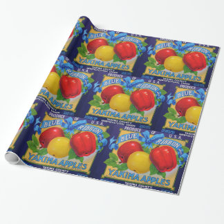 Blue Ribbon Apple Crate Label Wrapping Paper