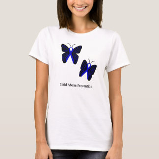 Blue Ribbon butterflies shirt