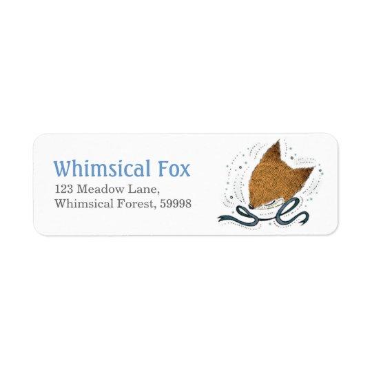 Blue Ribbon, Fox Return Address Label