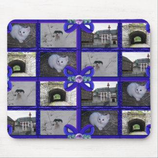 Blue Ribbon Gems Pattern Mouse Pad