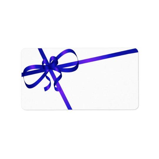 Blue Ribbon Mailing Labels Christmas