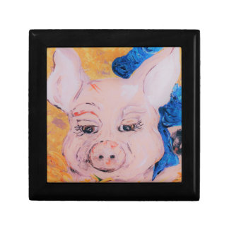 Blue Ribbon Pig Gift Box
