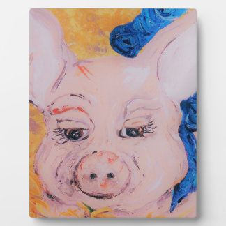 Blue Ribbon Pig Plaque