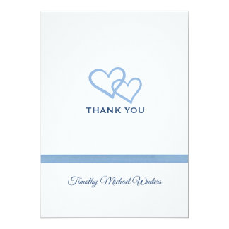 Blue Ribbon Thank You Card