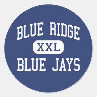 Blue Ridge - Blue Jays - Junior - Lakeside Arizona Round Sticker