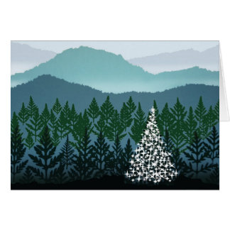 Blue Ridge Christmas note card