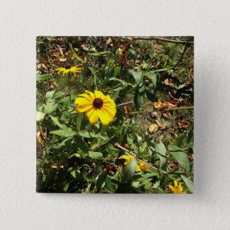 Blue Ridge Flowers 2 Inch Square Button
