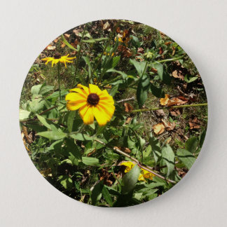 Blue Ridge Flowers 4 Inch Round Button