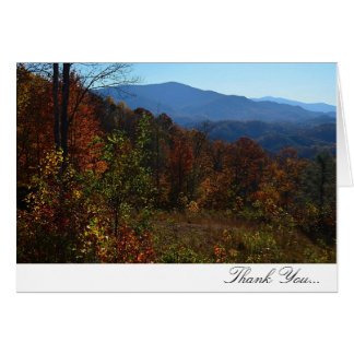 Blue Ridge Mountain Fall Thank You Cards