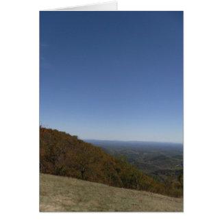Blue Ridge Mountains blank greeting card