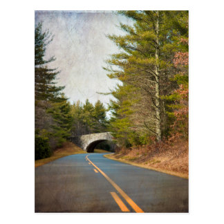 Blue Ridge Mountains Bridge Postcard