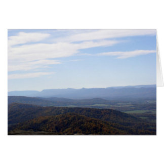 Blue Ridge Mountains Notecard Stationery Note Card
