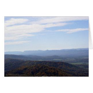 Blue Ridge Mountains Notecard Note Card