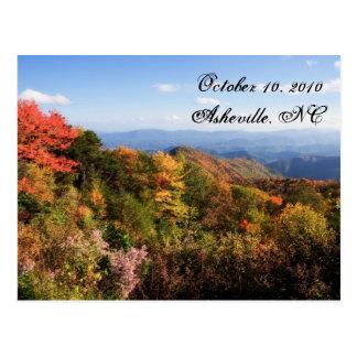 Blue Ridge Mountains Save the Date Postcard