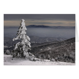 Blue Ridge Mountains Snow Photo Greeting Card