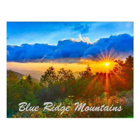 Blue Ridge Mountains sunrise Postcard