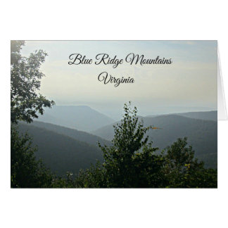 Blue Ridge Mountains Virginia Cards