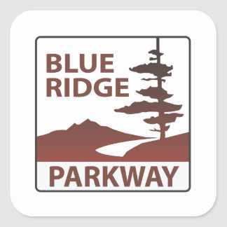 Blue Ridge Parkway Highway Road Trip Square Sticker