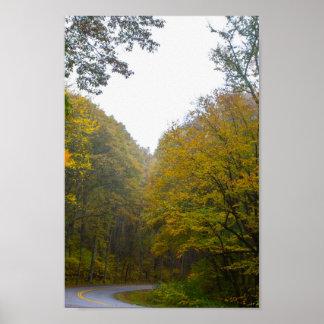 Blue Ridge Parkway in Fall, Virginia Poster