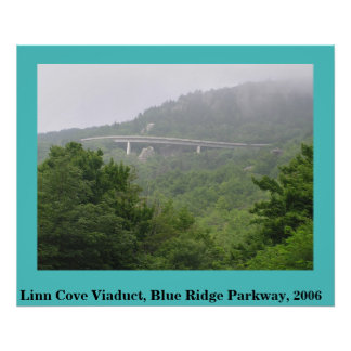 Blue Ridge Parkway Linn Cove Viaduct Poster