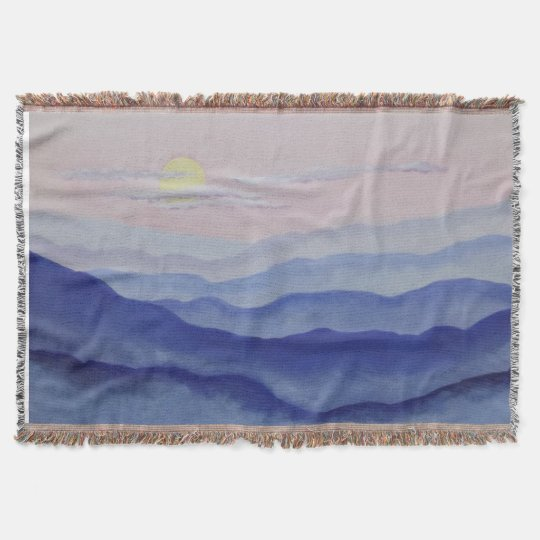 Blue Ridge Sunrise Throw Blanket