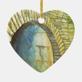 Blue Ridge Tunnel Ceramic Heart Ornament
