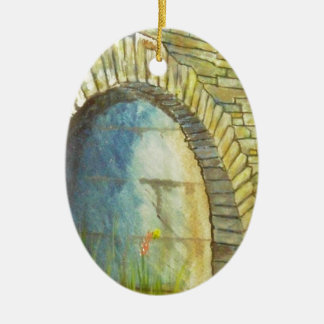 Blue Ridge Tunnel Ceramic Oval Ornament