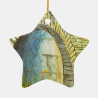 Blue Ridge Tunnel Ceramic Star Ornament