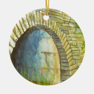 Blue Ridge Tunnel Round Ceramic Ornament