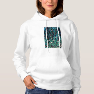 Blue Ring-necked Pheasant feather Hoodie