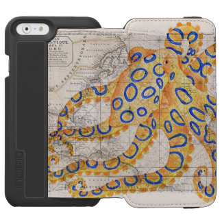 Blue Ring Octopus Map Incipio Watson™ iPhone 6 Wallet Case