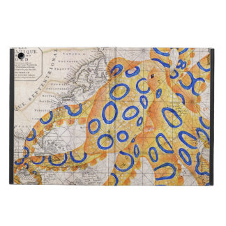 Blue Ring Octopus Map iPad Air Case