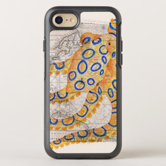Blue Ring Octopus Map OtterBox Symmetry iPhone 8/7 Case