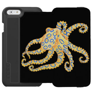 Blue Ring Octopus on Black Incipio Watson™ iPhone 6 Wallet Case