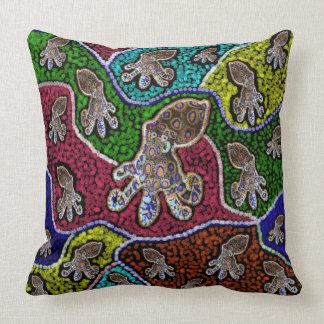 Blue Ringer Octopus Dot Art Big Throw Cushion