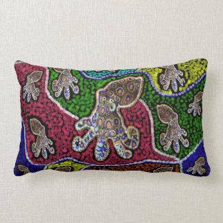 Blue Ringer Octopus Dot Art Lumbar Cushion
