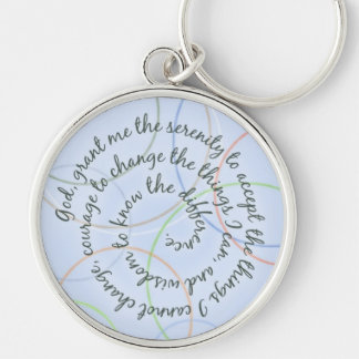 Blue Rings Serenity Prayer Keychain