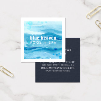 Blue Ripple | Pool Care or Swim Square Business Card