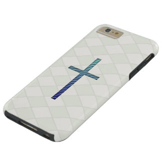 Blue Rippled Cross-Religious Tough iPhone 6 Plus Case